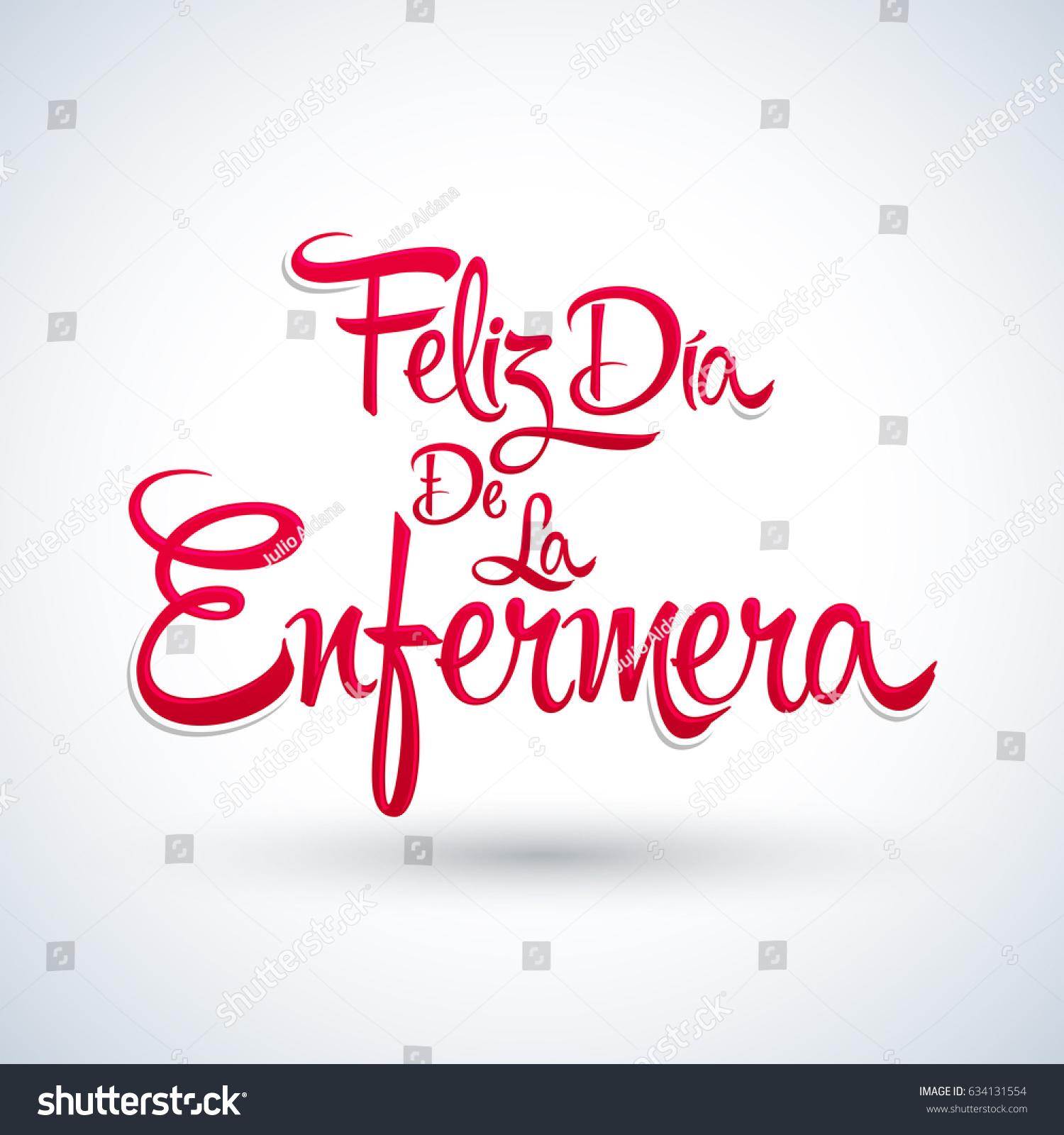 Feliz Dia De La Enfermera Happy Stock Vector Royalty Free