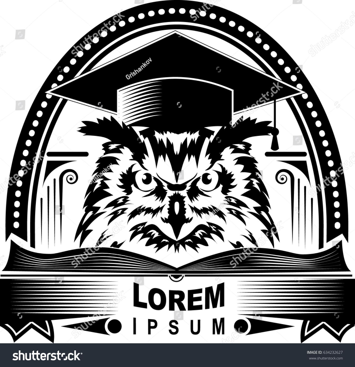 Owl Symbol Wisdom Knowledge Vector Image Stock Vector Royalty Free