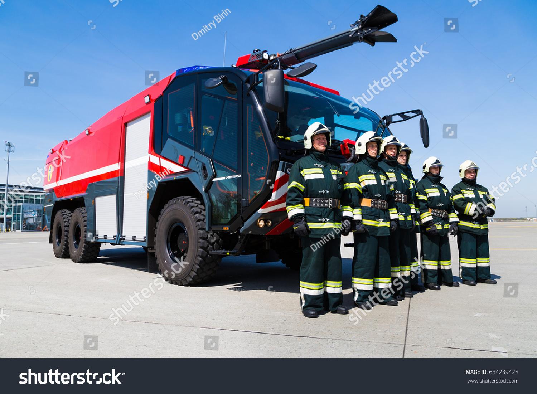 Boryspil Ukraine April 27 2017 Firefighters Stock Photo