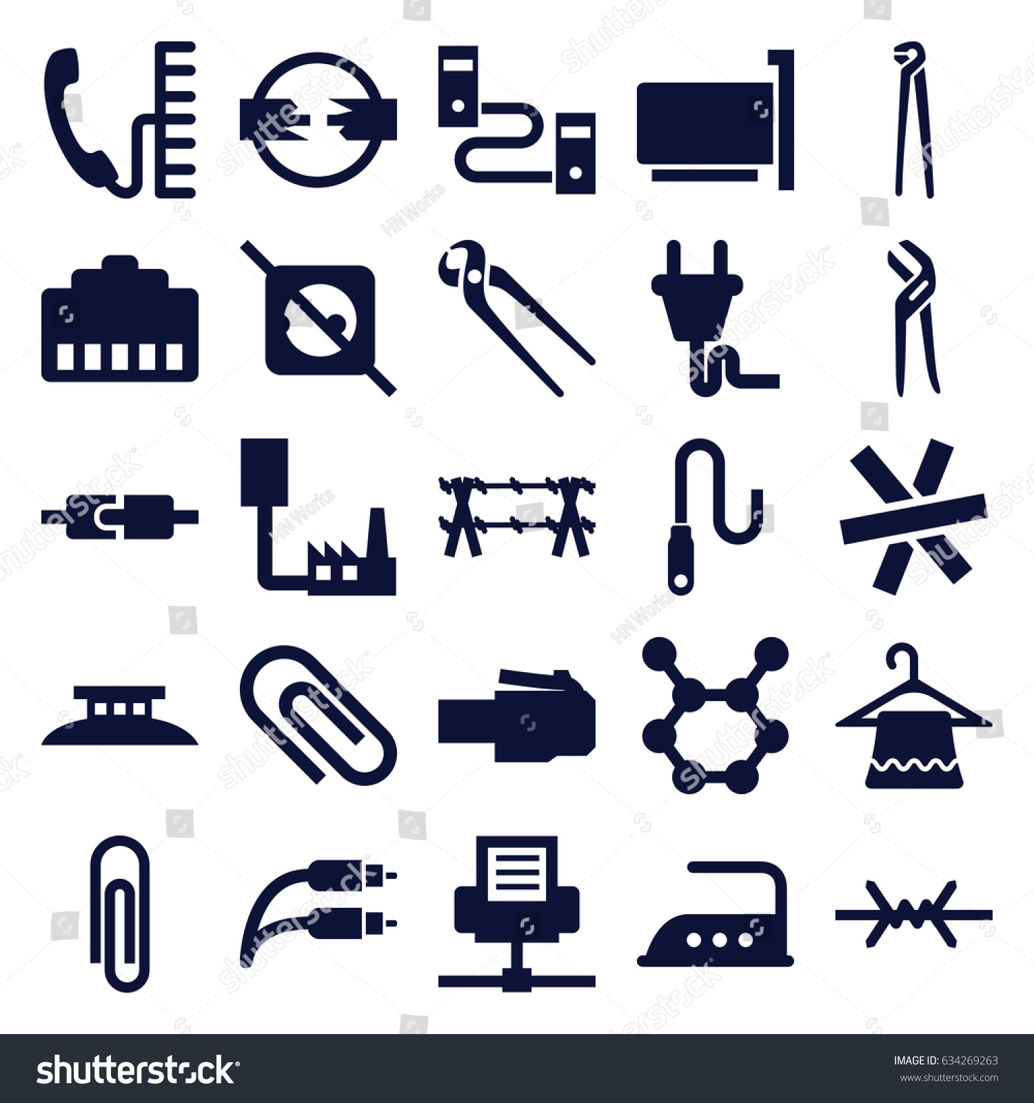 Wire Icons Set Center Aabrands A Audiopulseelectronicsawa 8300f001906awajpg 25 Stock Vector 634269263 Shutterstock Rh Com Connection Icon