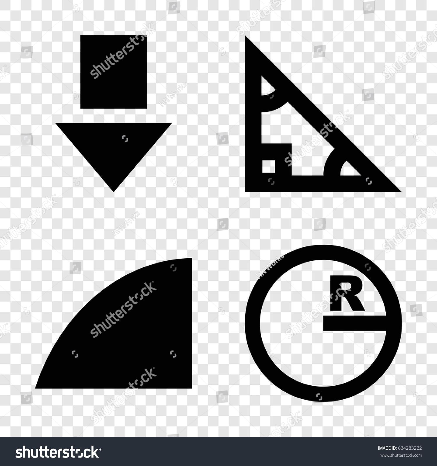 Angle icons set set 4 angle stock vector 634283222 shutterstock angle icons set set of 4 angle filled icons such as angle triangle buycottarizona