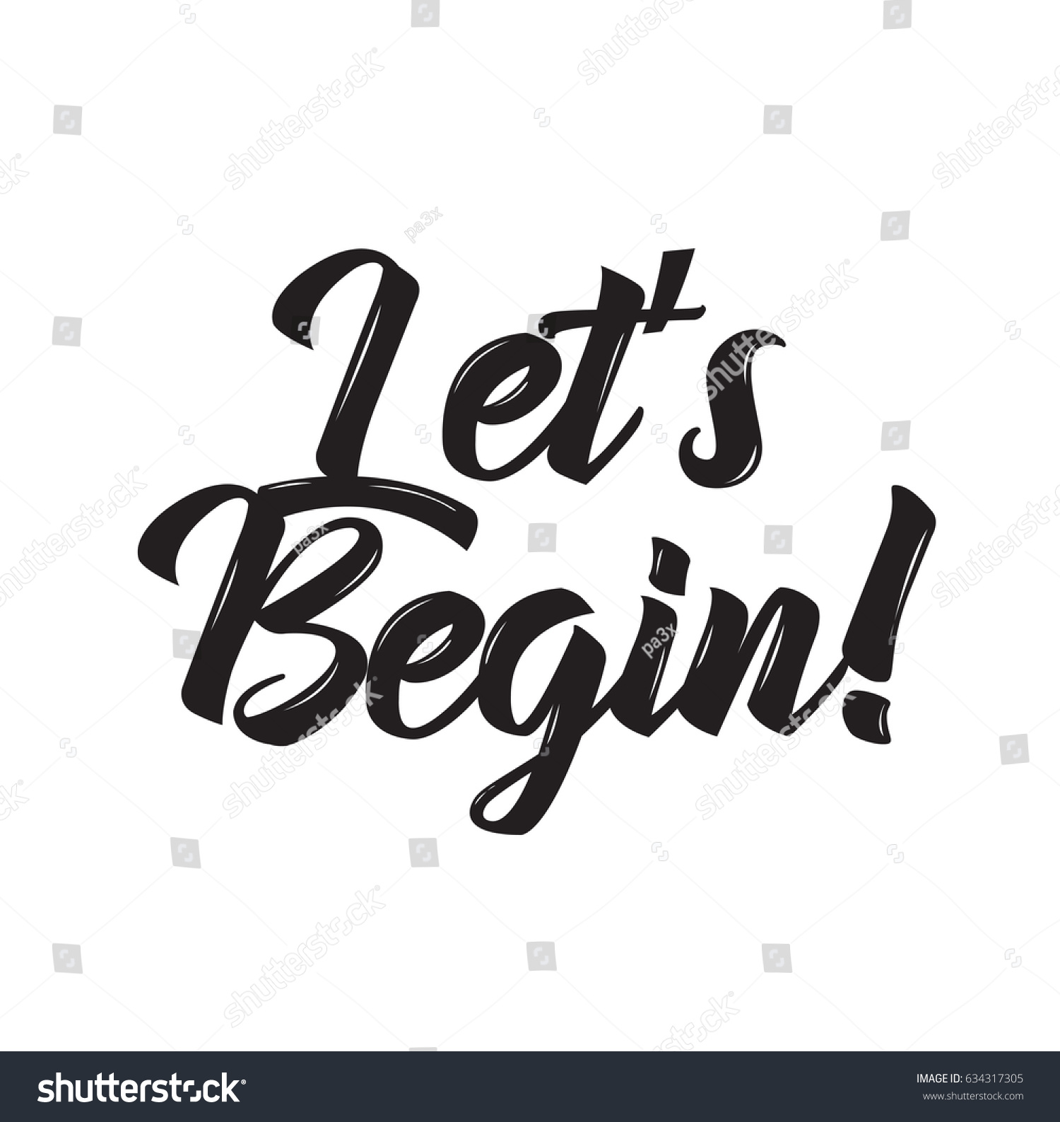 lets begin phrase text design vector stock vector royalty free