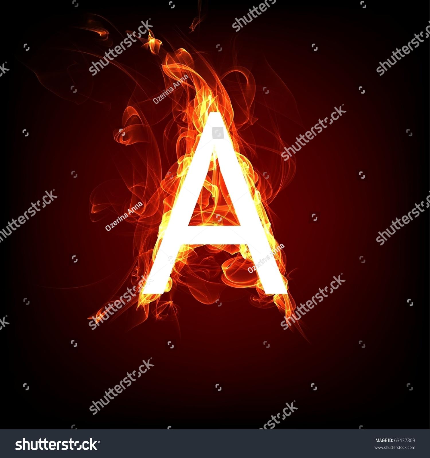 Fiery Font Hot Flame Design Letter Stock Illustration 63437809 ...