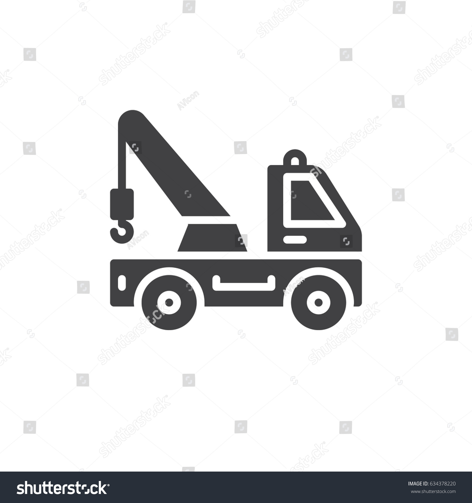 Tow Truck Icon Vector Filled Flat Stock Vector Royalty Free