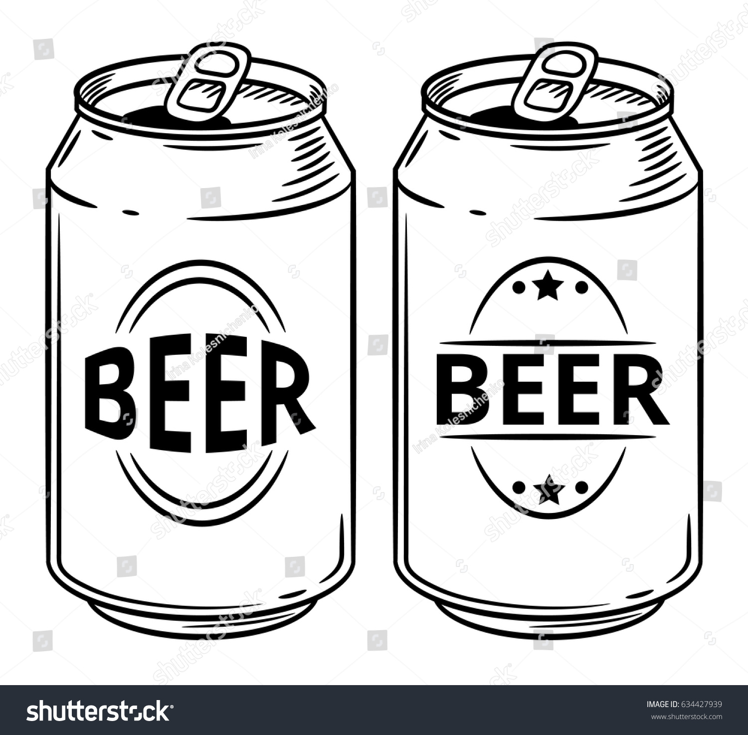 vector illustration beer can isolated on stock photo photo vector rh shutterstock com crushed beer can vector beer can label vector