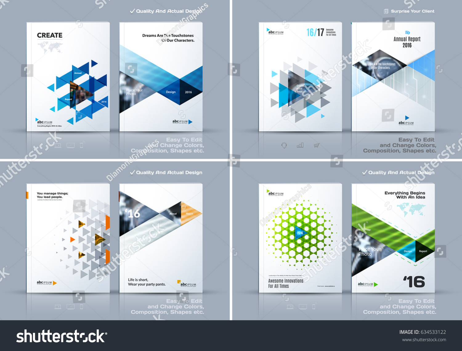 Business abstract vector template brochure design stock for Brochure cover design