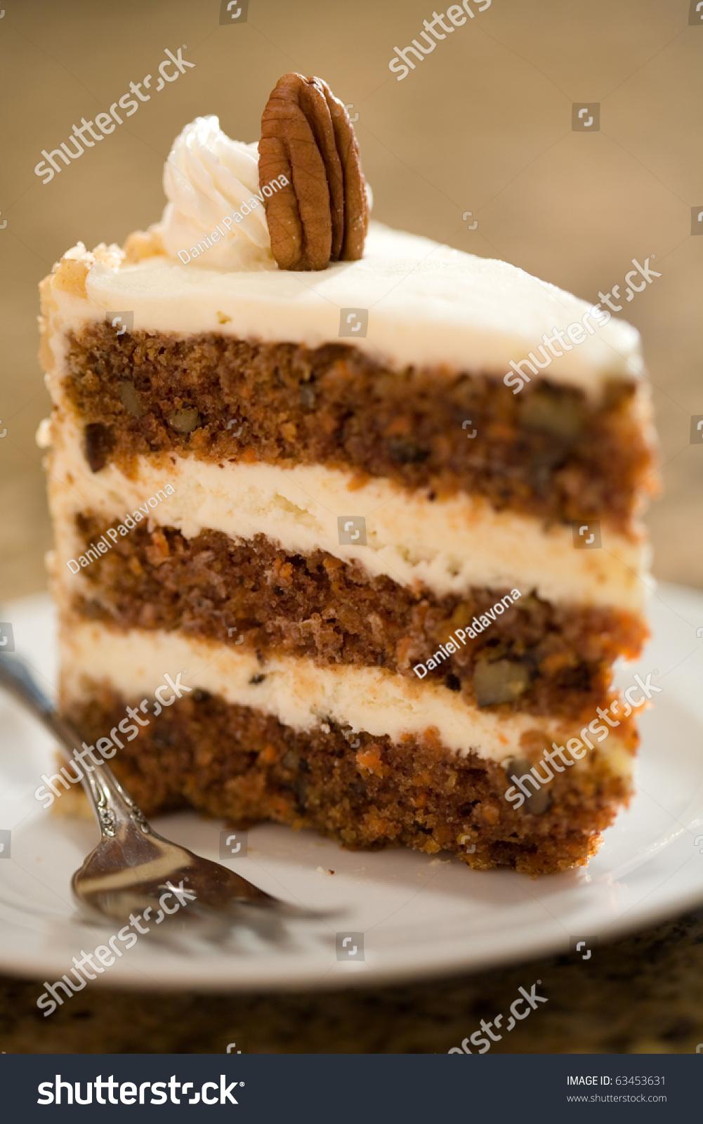 Decadent Slice Carrot Cake Stock Photo 63453631 Shutterstock
