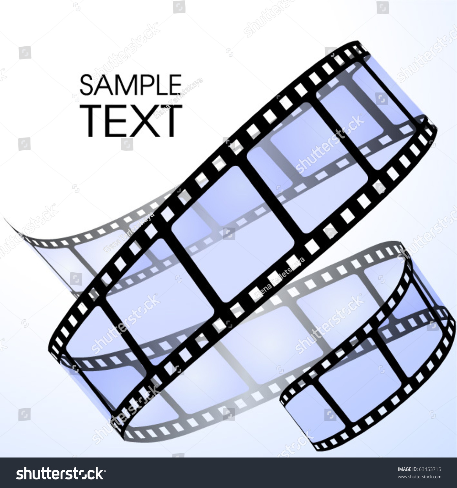 film strip stock vector 63453715 shutterstock. Black Bedroom Furniture Sets. Home Design Ideas