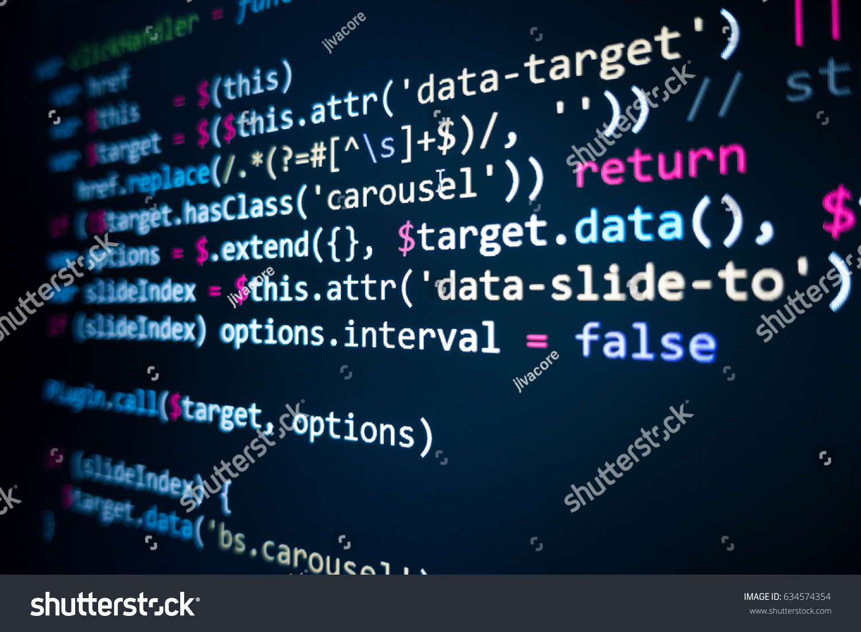software source code programming code programming の写真素材 今