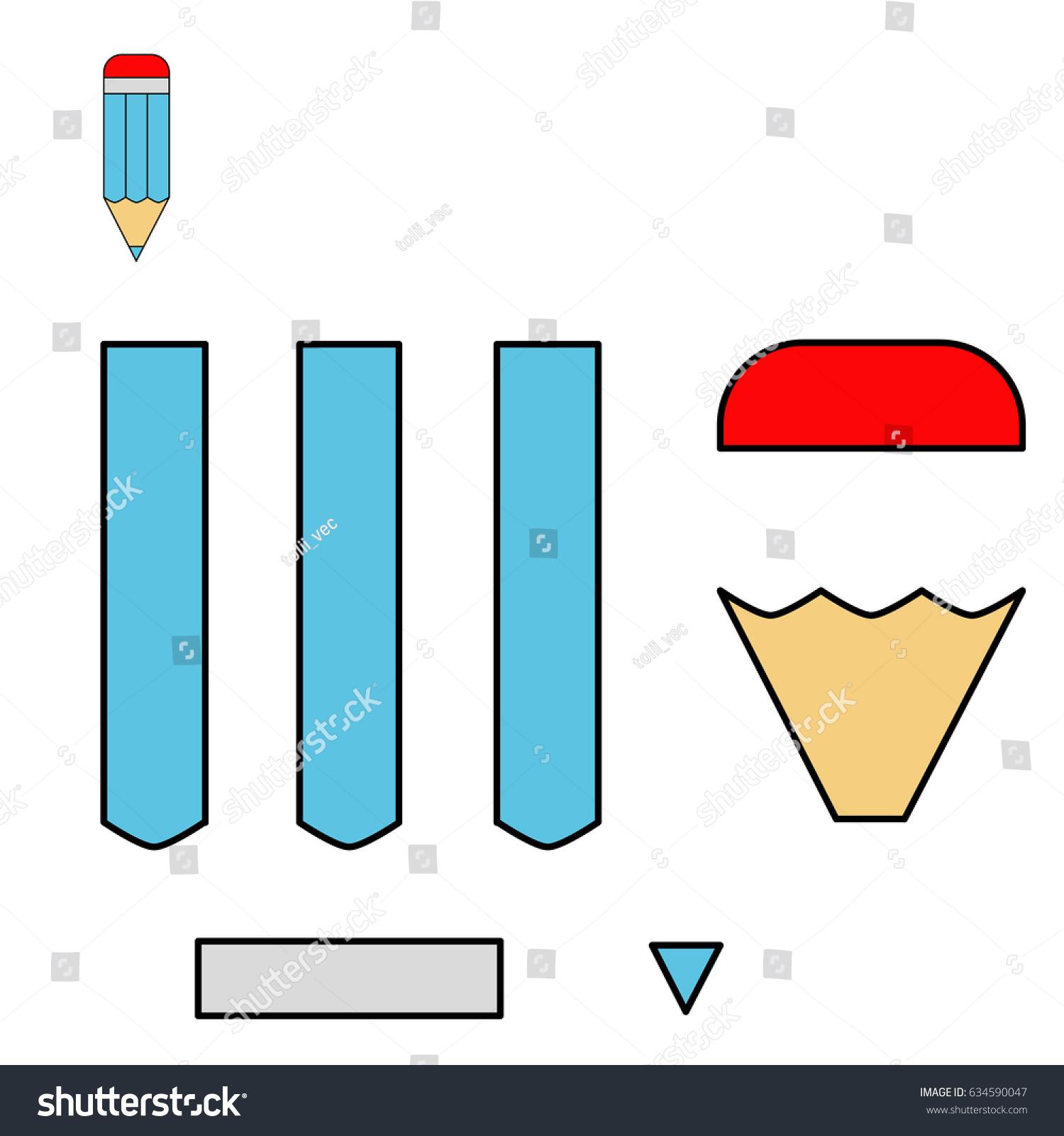 Cut Glue Vector Game Children Worksheet Stock Vector (Royalty Free ...