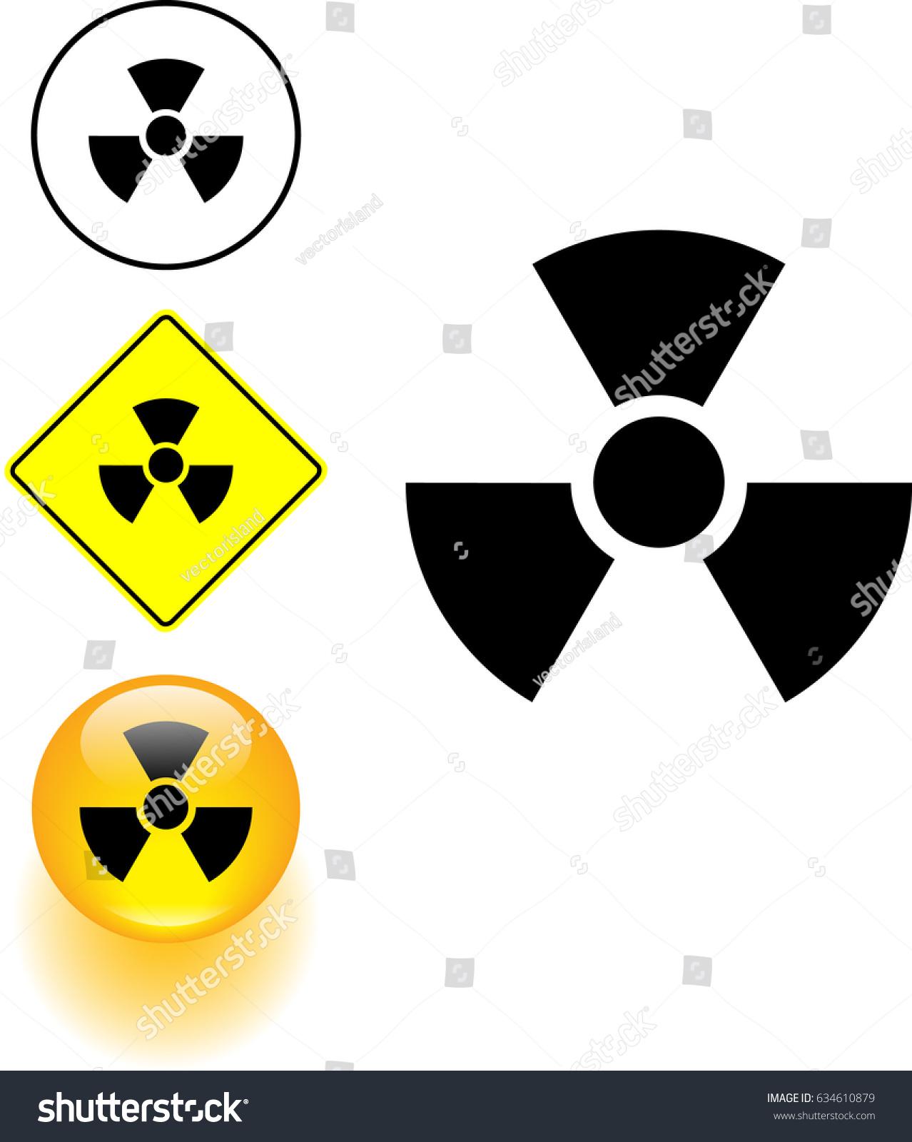 Radioactive symbol sign button stock vector 634610879 shutterstock radioactive symbol sign and button buycottarizona