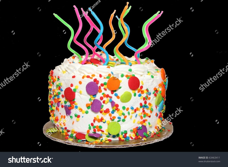 Birthday Cake Candles Transparent Stock Photo Royalty Free