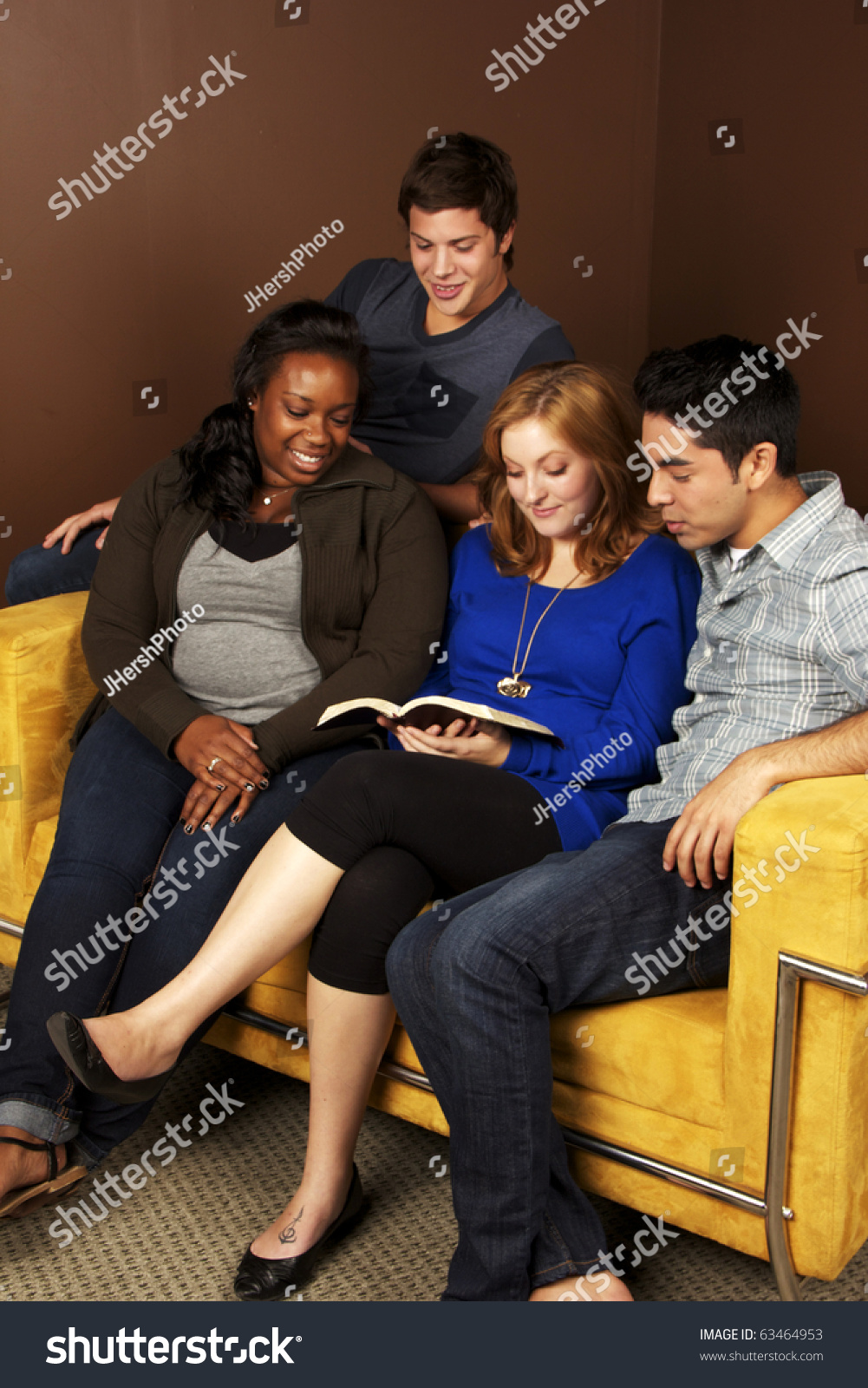Group of diverse young adults