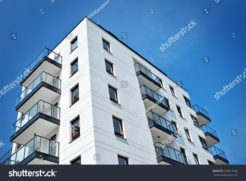 Modern, Luxury Apartment Building #634812566