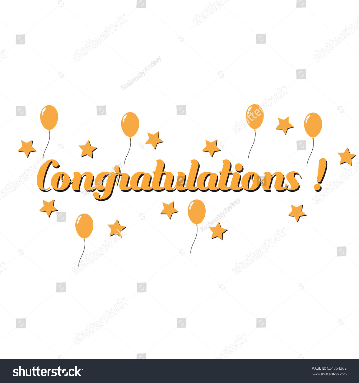 Congratulations template card banner flyer gift stock vector congratulations template for card banner flyer gift certificate alramifo Images