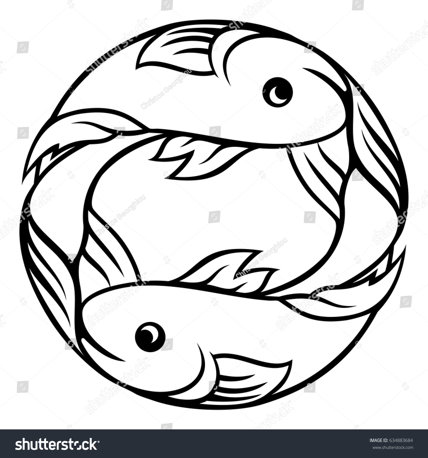 Pisces fish horoscope astrology zodiac sign stock vector 634883684 a pisces fish horoscope astrology zodiac sign symbol biocorpaavc Images