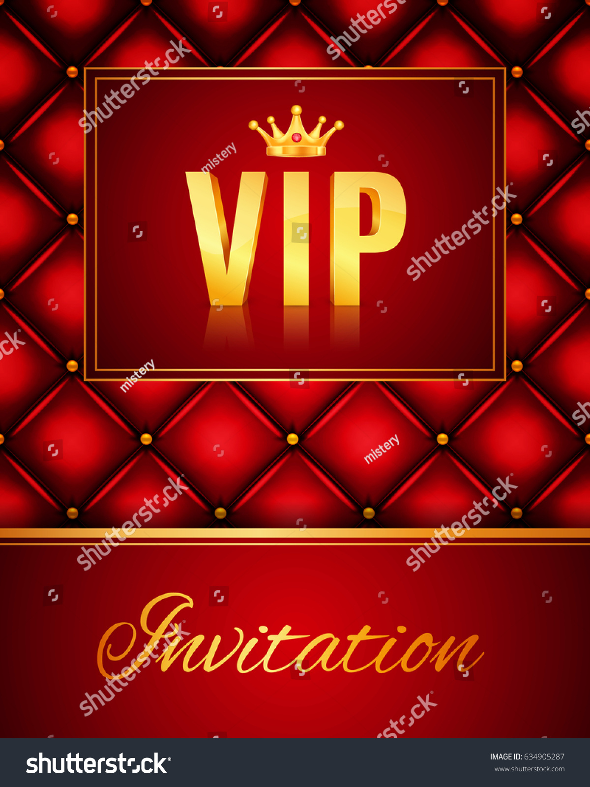 VIP Abstract Quilted Background Vip Party Stock Vector HD (Royalty ...