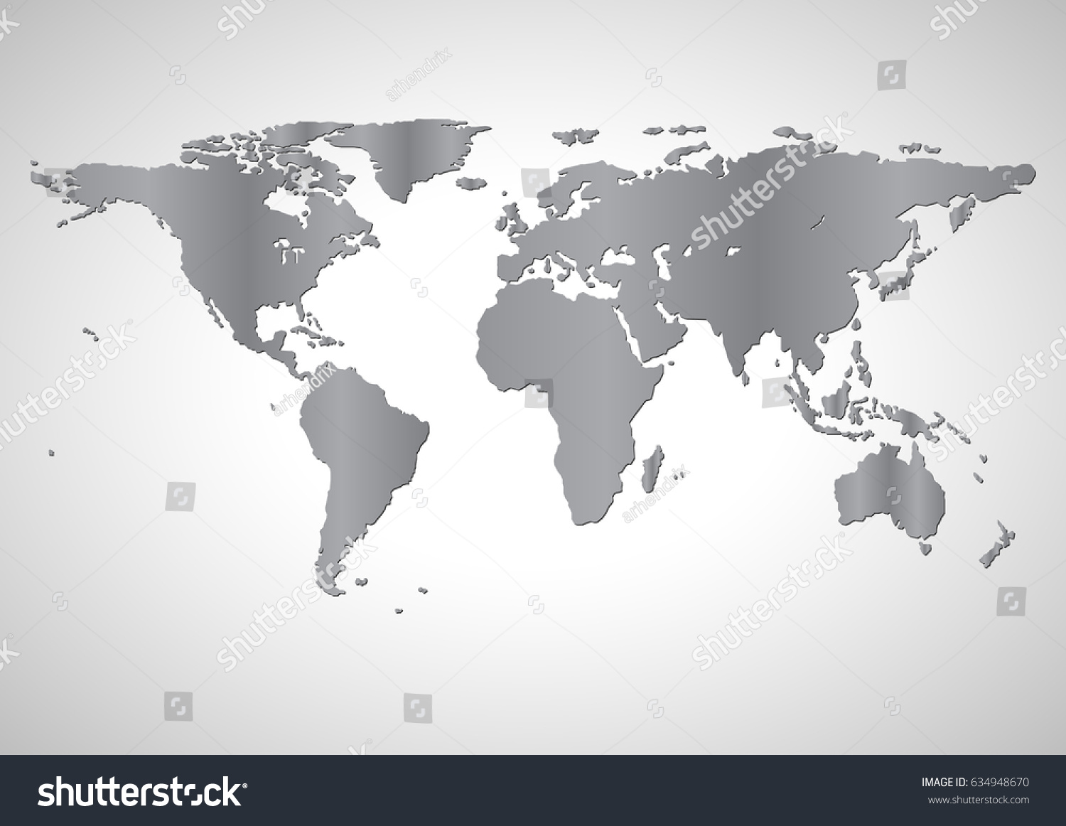 Blank monochrome grey similar world map stock vector 634948670 blank monochrome or grey similar world map or flat earth graph world map illustration gumiabroncs Images