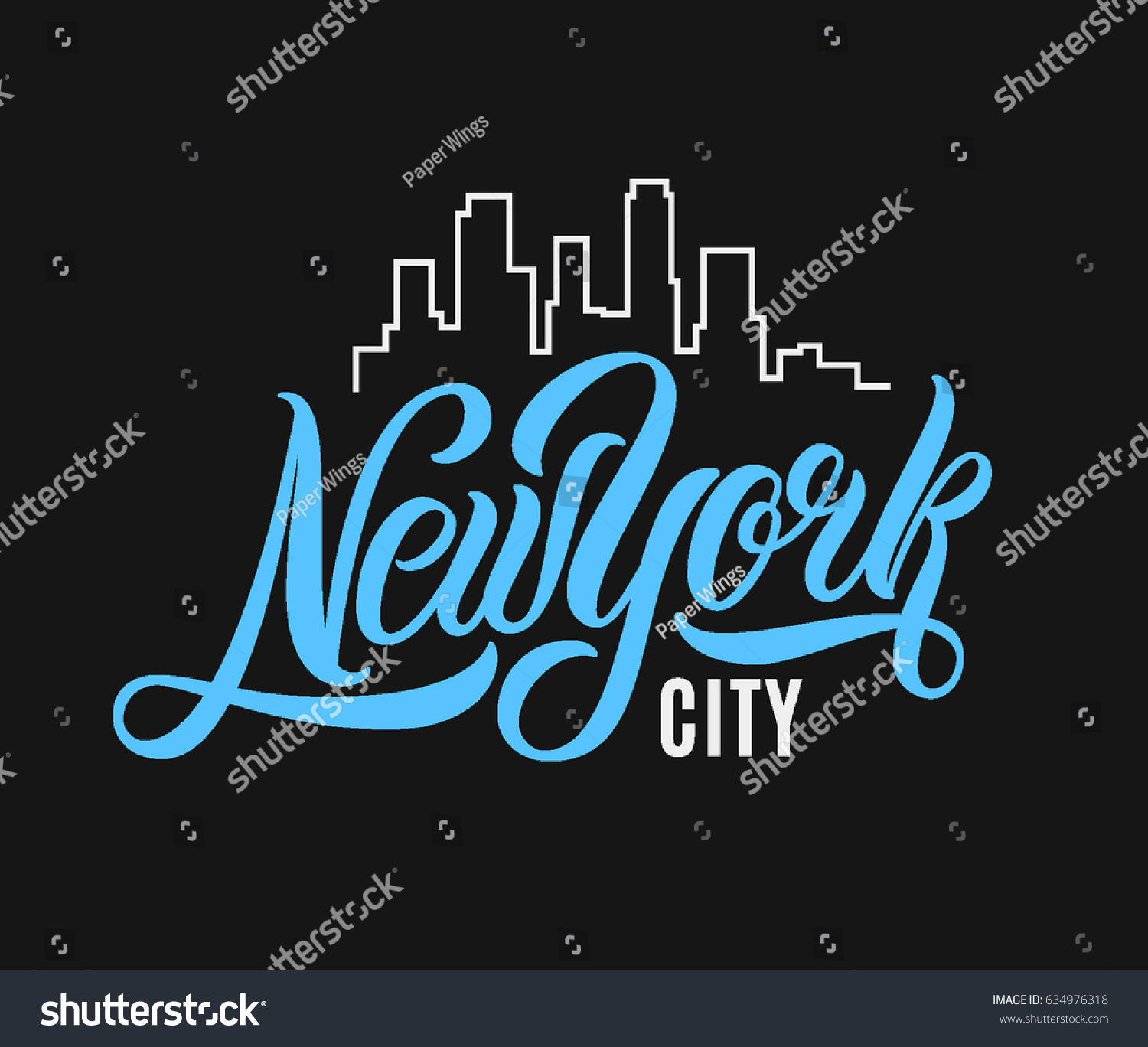 T Shirt Design York: New York City Tshirt Design Vector Stock Vector 634976318