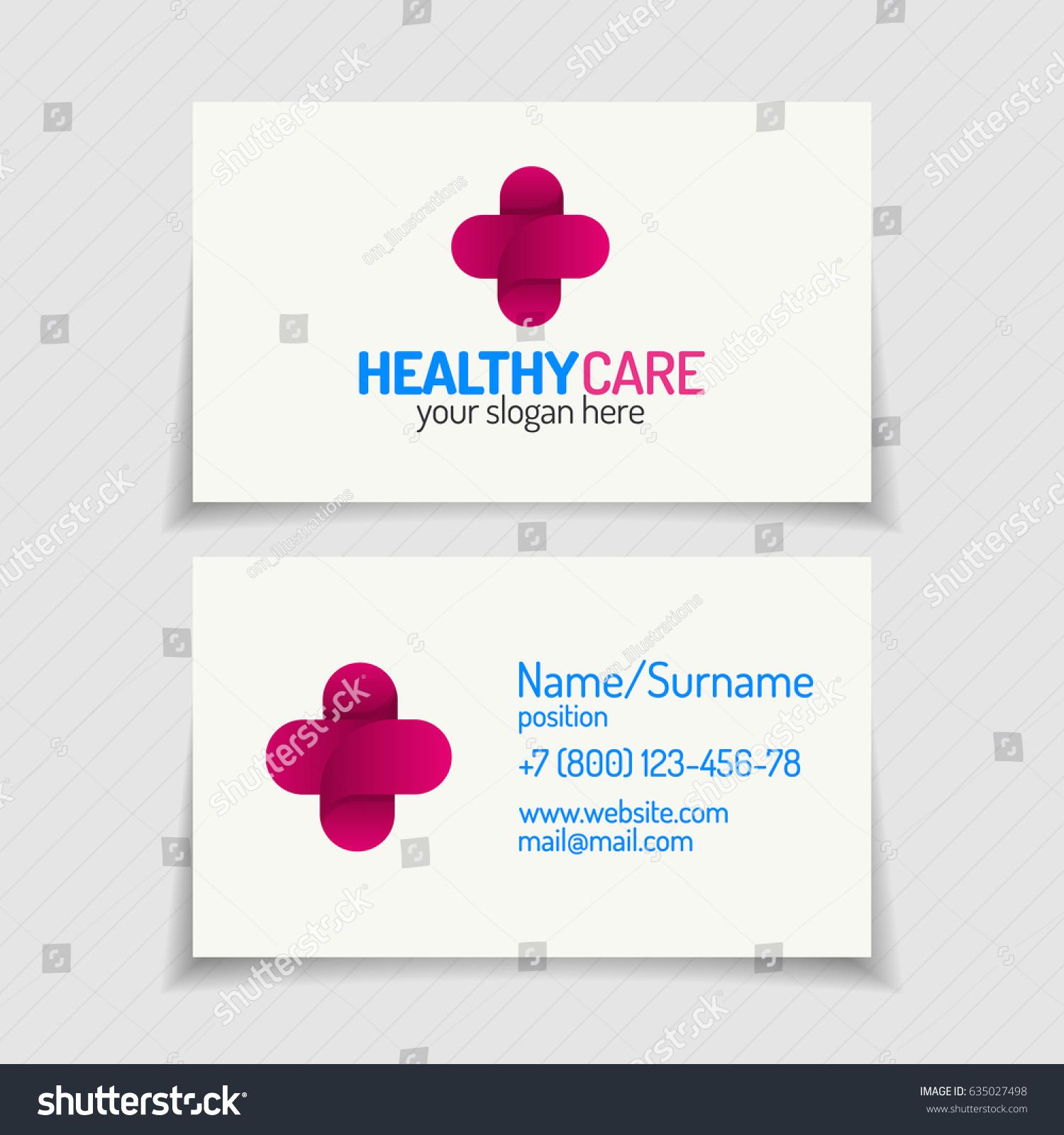 Business Card Cross Logo Color Modern Stock Vector 635027498 ...