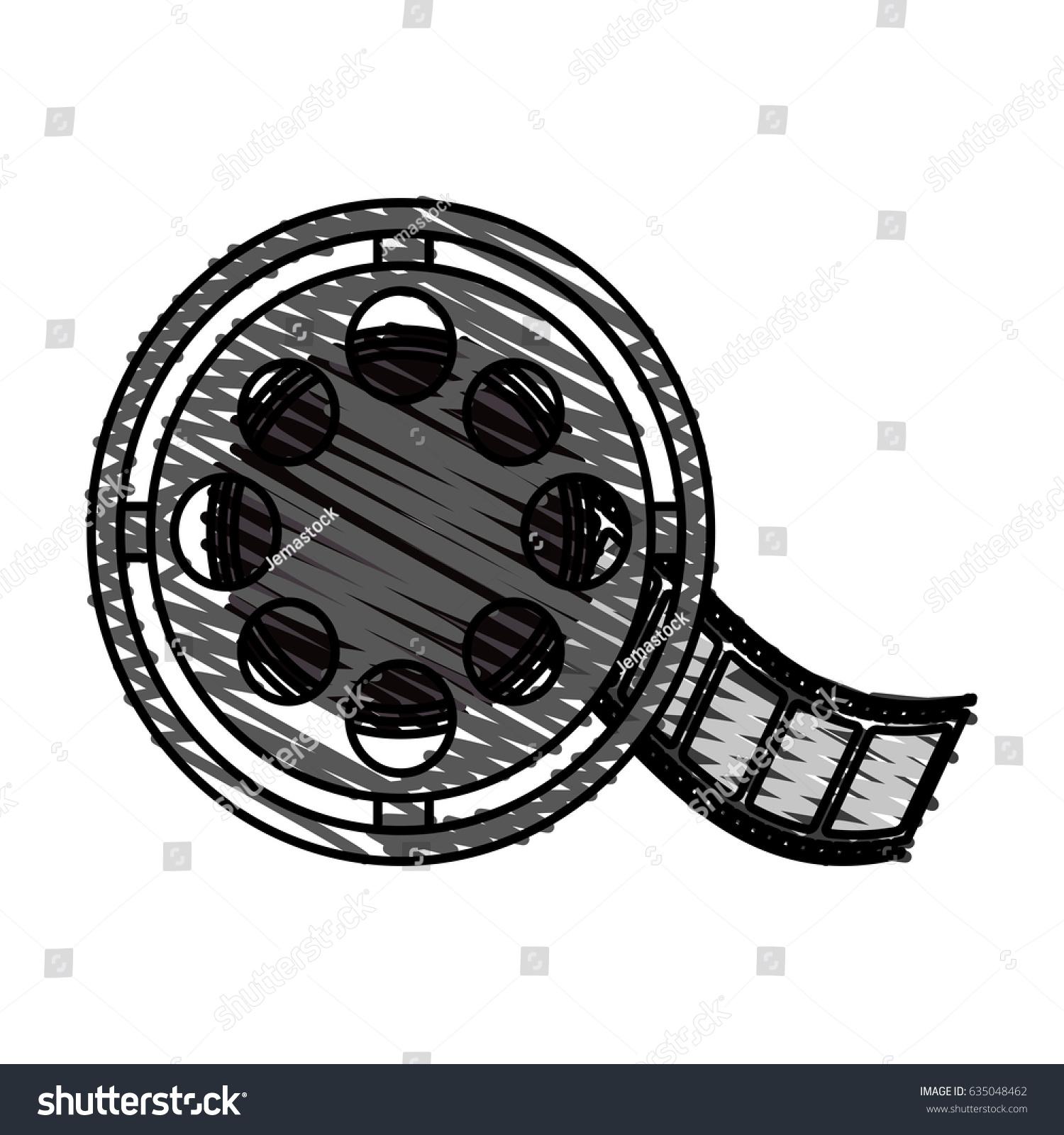 Color Crayon Stripe Image Cartoon Film Stock Vector 635048462 ...