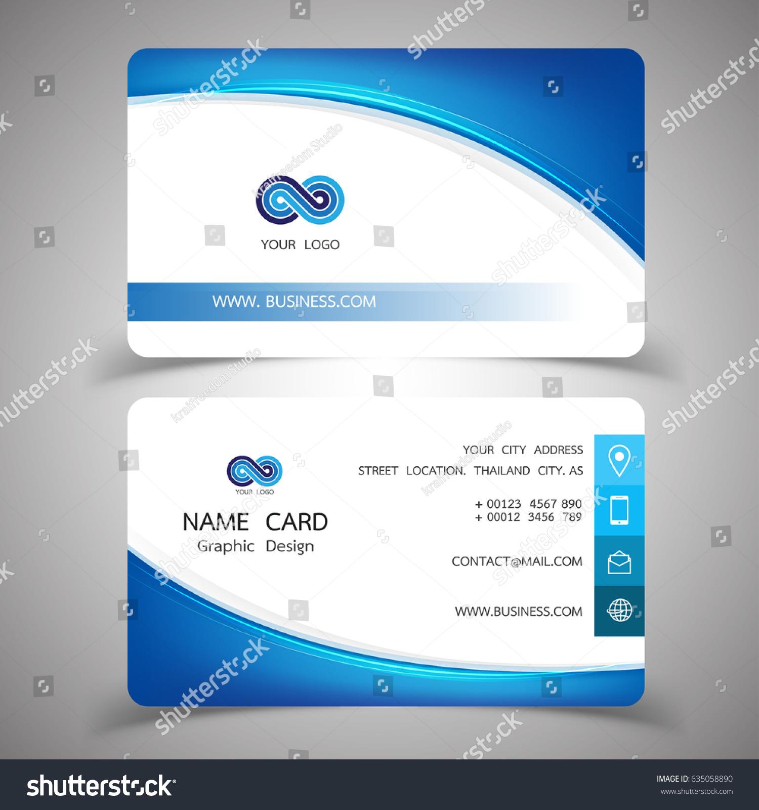 Business Card Design Set Modern Creative Stock Vector 635058890 ...