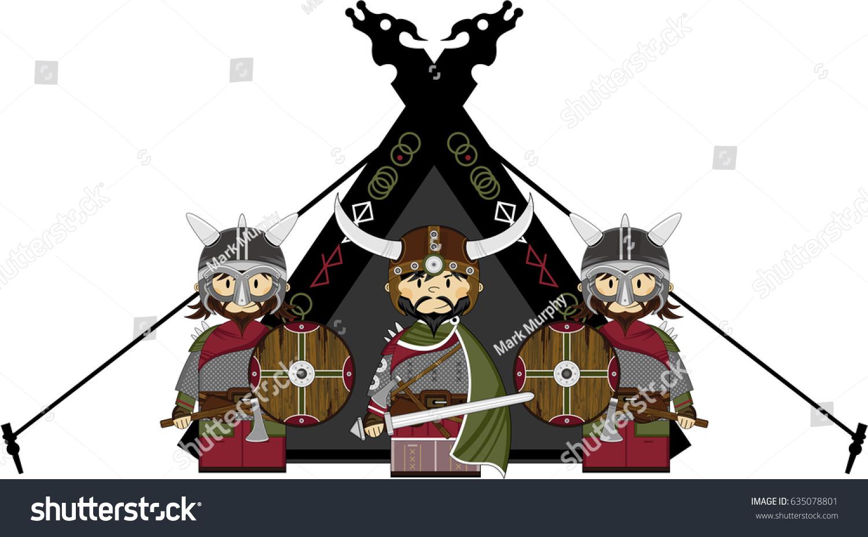 Cartoon Norse Viking Tent Stock Vector (Royalty Free) 635078801 ...
