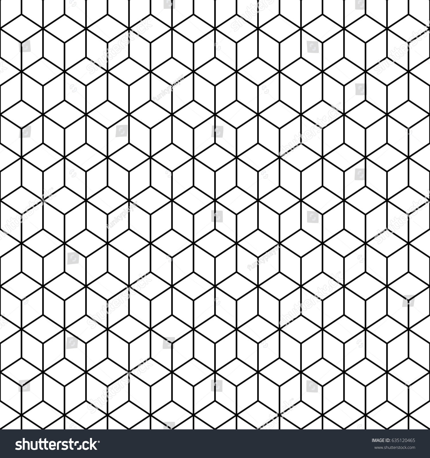 Repeated White Cubes Black Edges Background Image Vectorielle De
