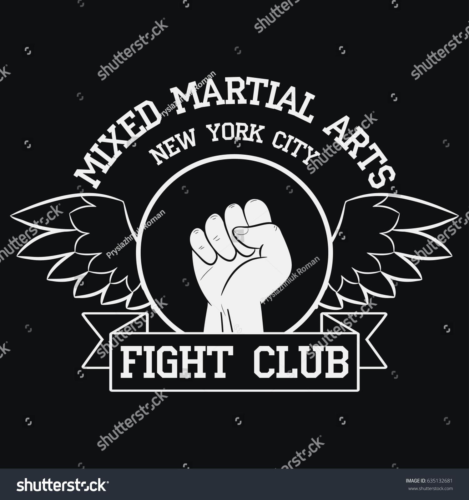 Fight Club Logo New York MMA Stock-Vektorgrafik 635132681 – Shutterstock