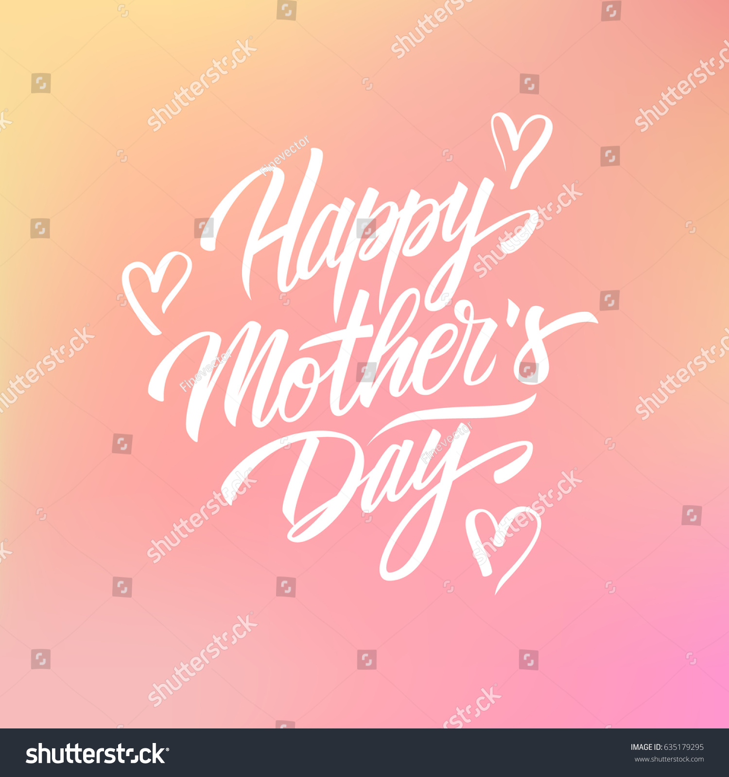 Happy mothers day greeting card calligraphic stock vector 635179295 happy mothers day greeting card with calligraphic lettering text design on blurred background creative template kristyandbryce Choice Image