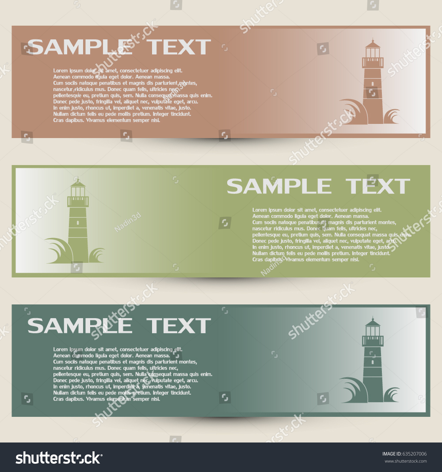 Business Cards Designvector Icon Lighthouse Stock Vector 635207006 ...