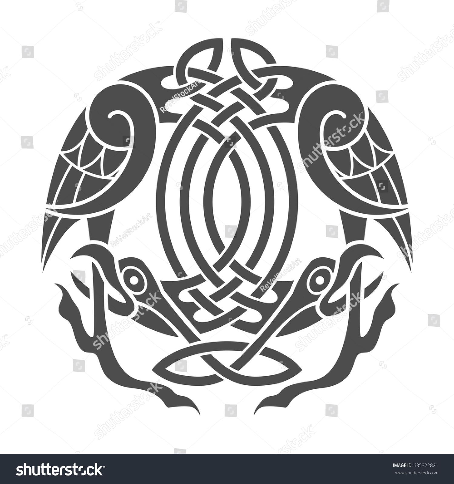 Ancient celtic mythological symbol eagle vector stock vector ancient celtic mythological symbol of eagle vector knot ornament biocorpaavc Choice Image
