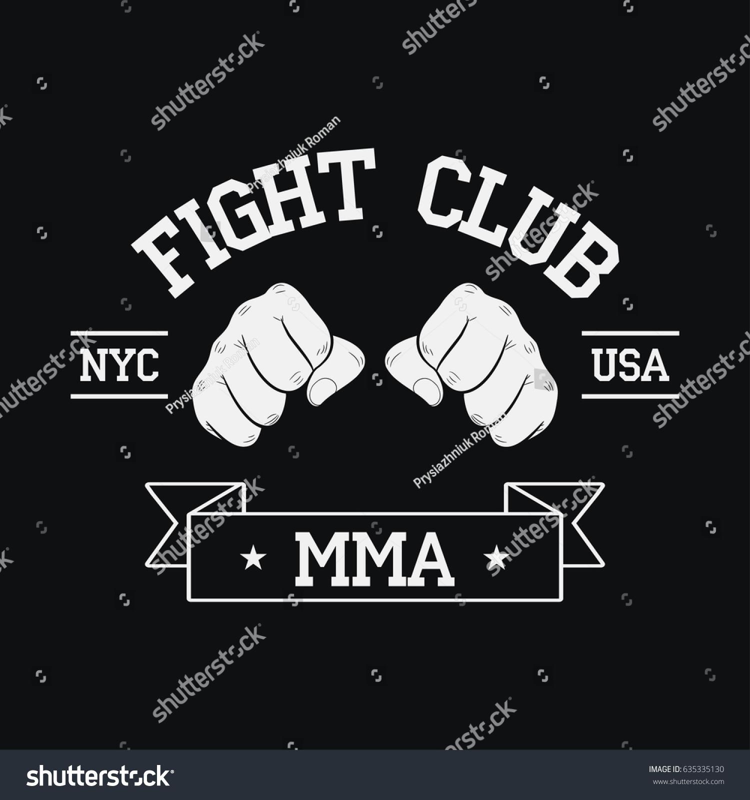 Fight Club Logo NYC USA MMA Stock-Vektorgrafik (Lizenzfrei ...