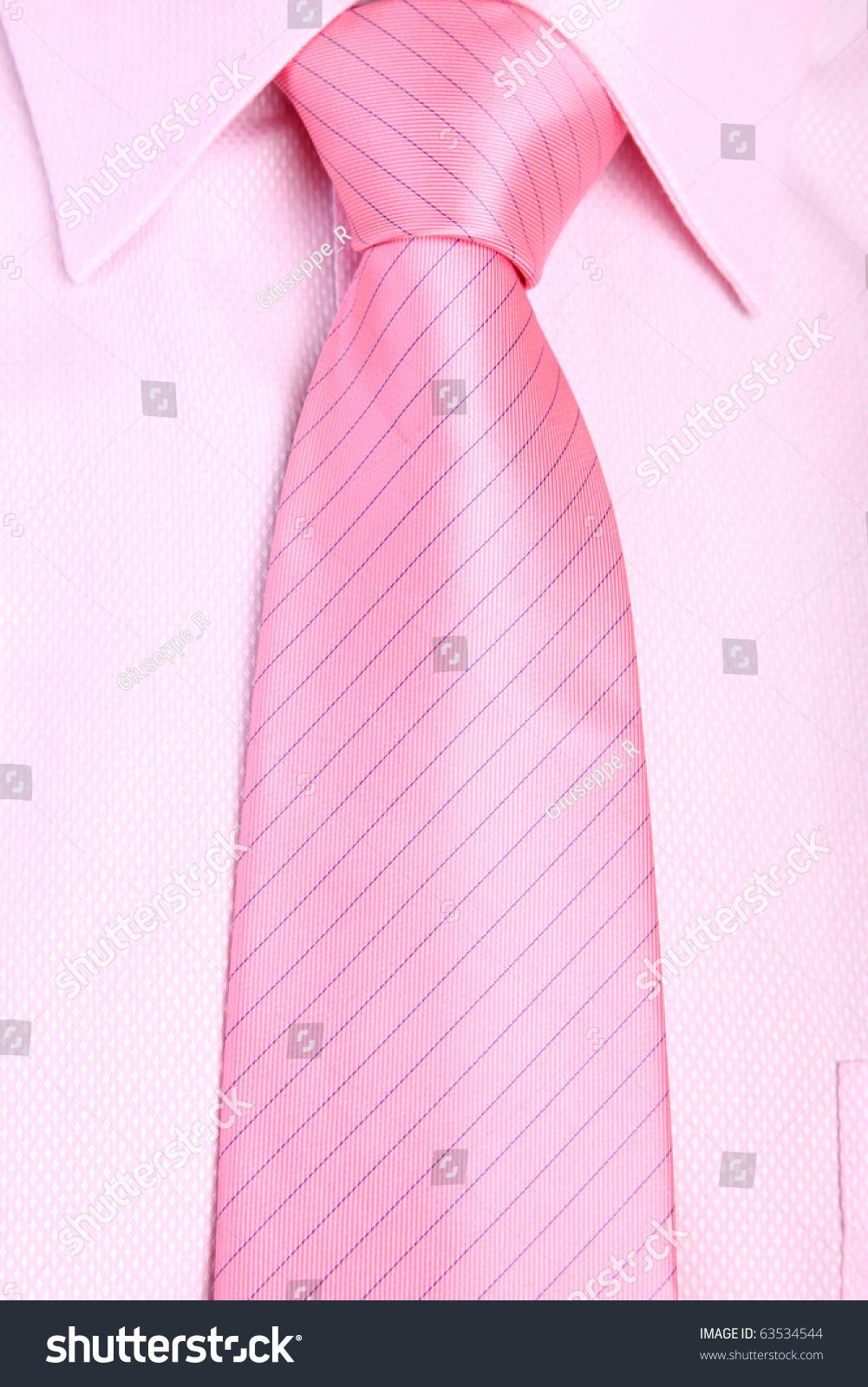 Tie Pink Shirt Close Up Smart Stock Photo 63534544 - Shutterstock