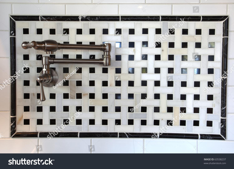 Pot Filler Faucet Called Pasta Faucet Stock Photo 63538237 ...