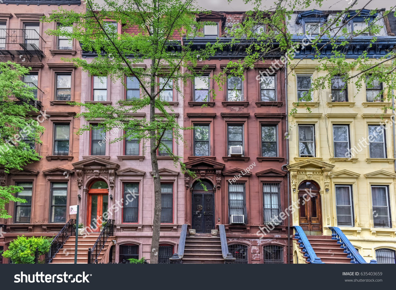 New York Row Houses : House on astor row stock photo