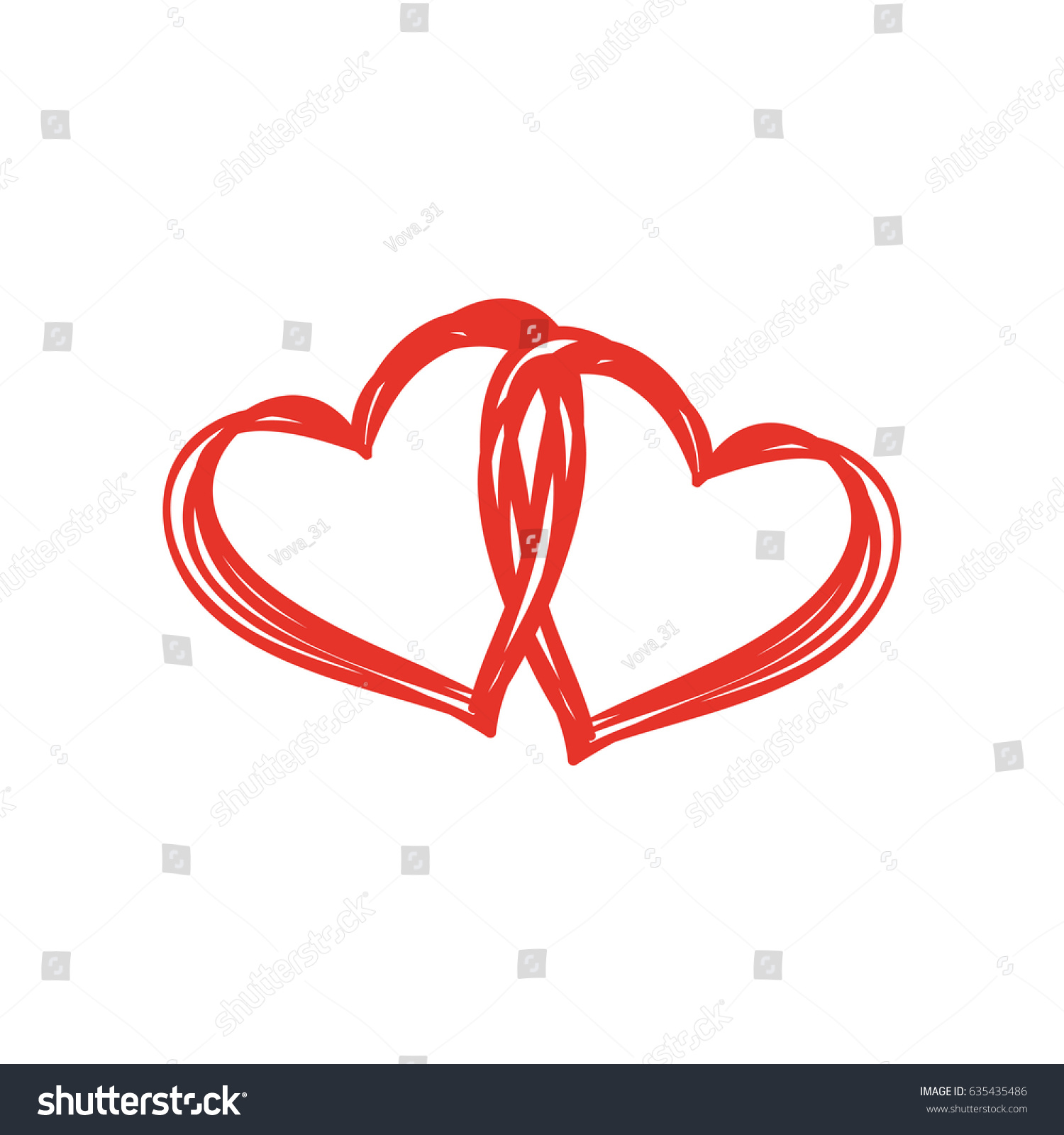 Heart Shape Design Love Symbols Stock Vector Royalty Free