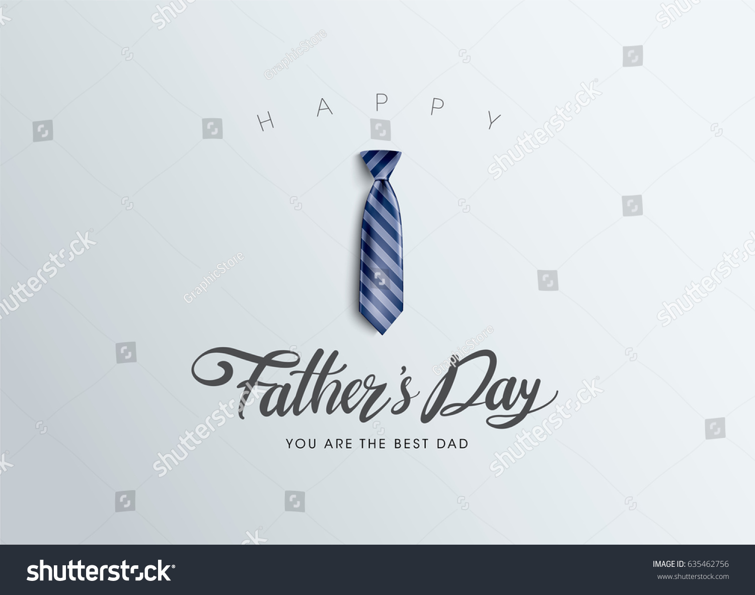 Happy Father's Day Calligraphy greeting card. Vector illustration. #635462756