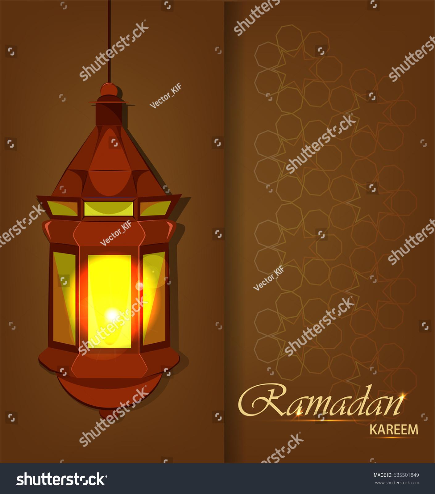 Ramadan Kareem Beautiful Greeting Card Traditional Stock Vector ... for Traditional Arabic Lamp  67qdu