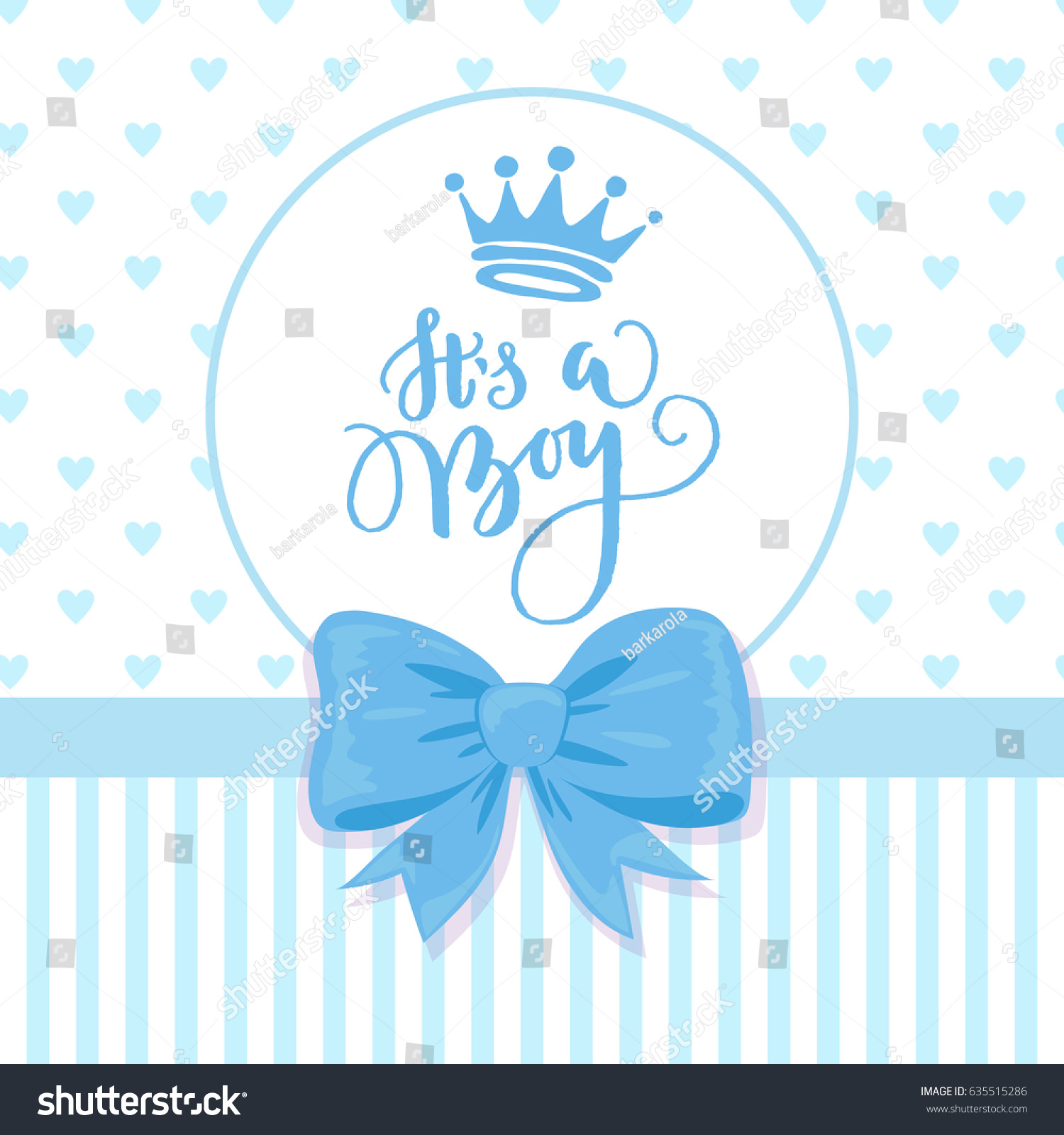 Vector Greeting Card Hand Drawn Crown Stock Vector