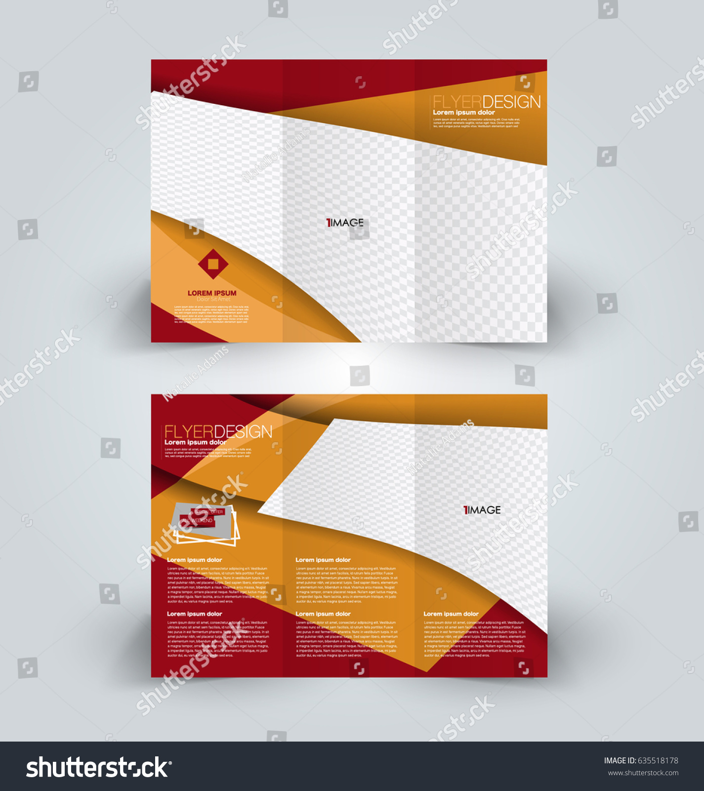 Brochure Template Business Trifold Flyer Creative Stock Vector - Business tri fold brochure templates