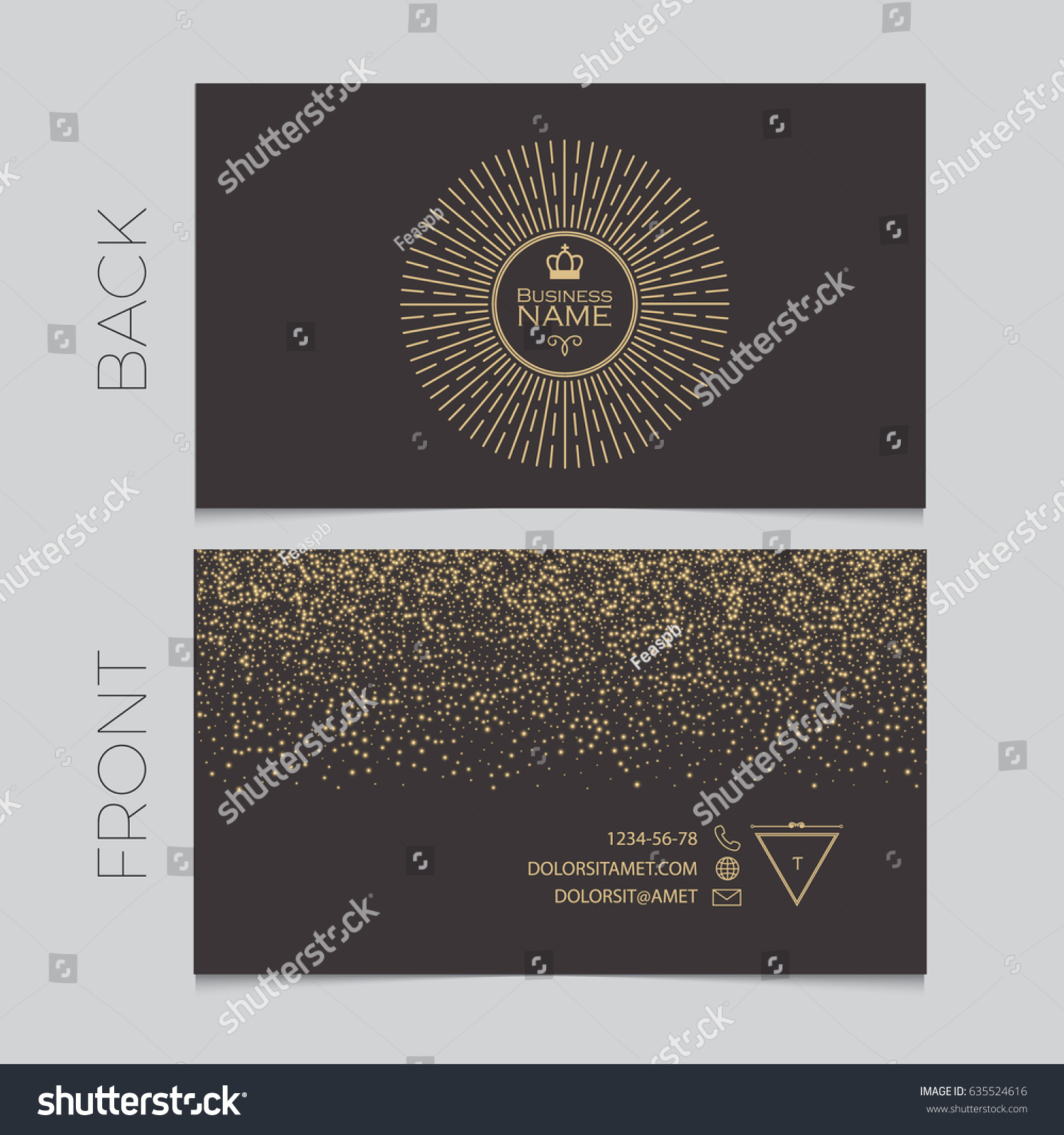 Elegant Business Card Template Cover Booklet Stock Vector HD ...