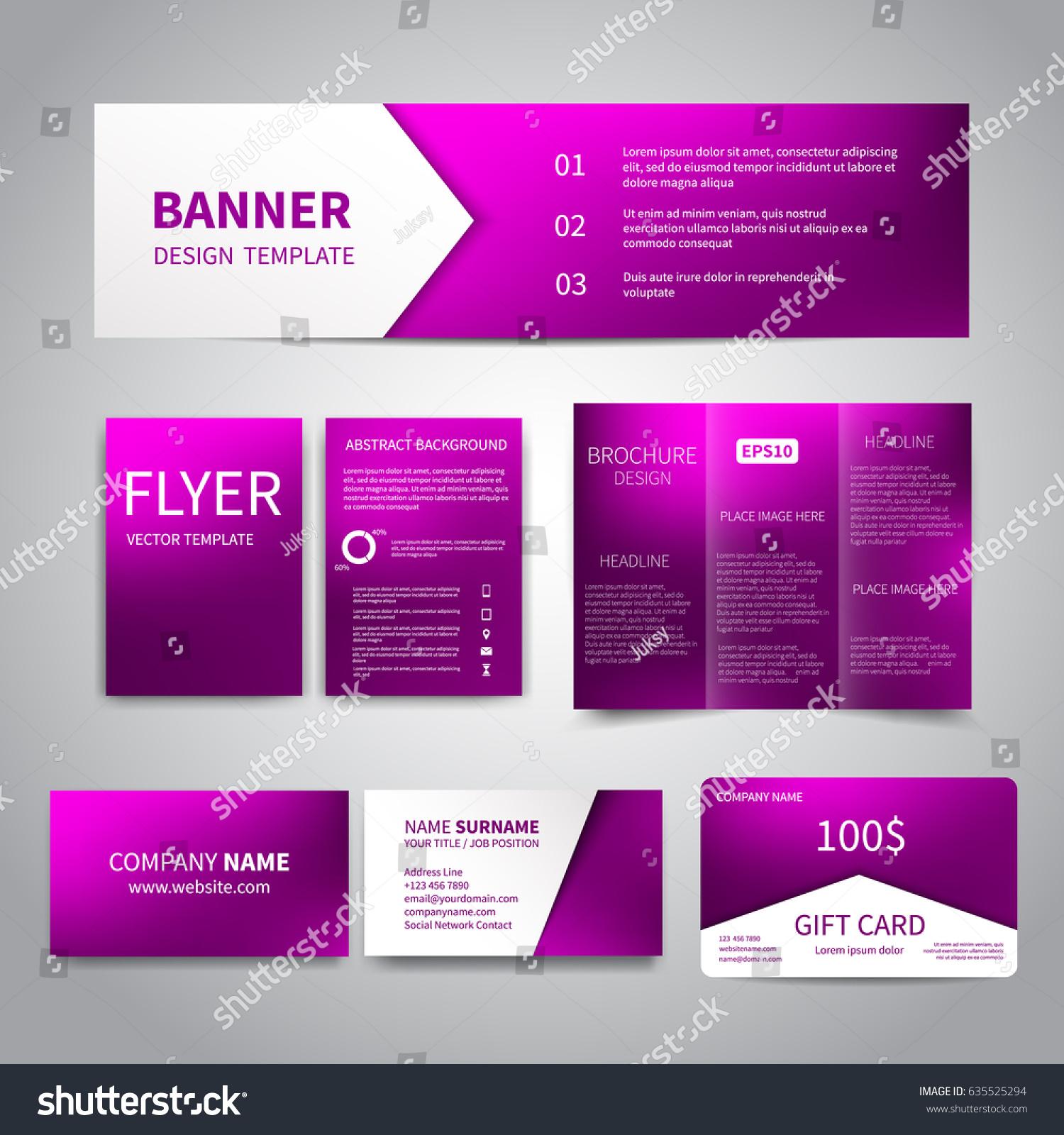 Vector Banner Flyers Brochure Business Cards Stock Vector 635525294 ...
