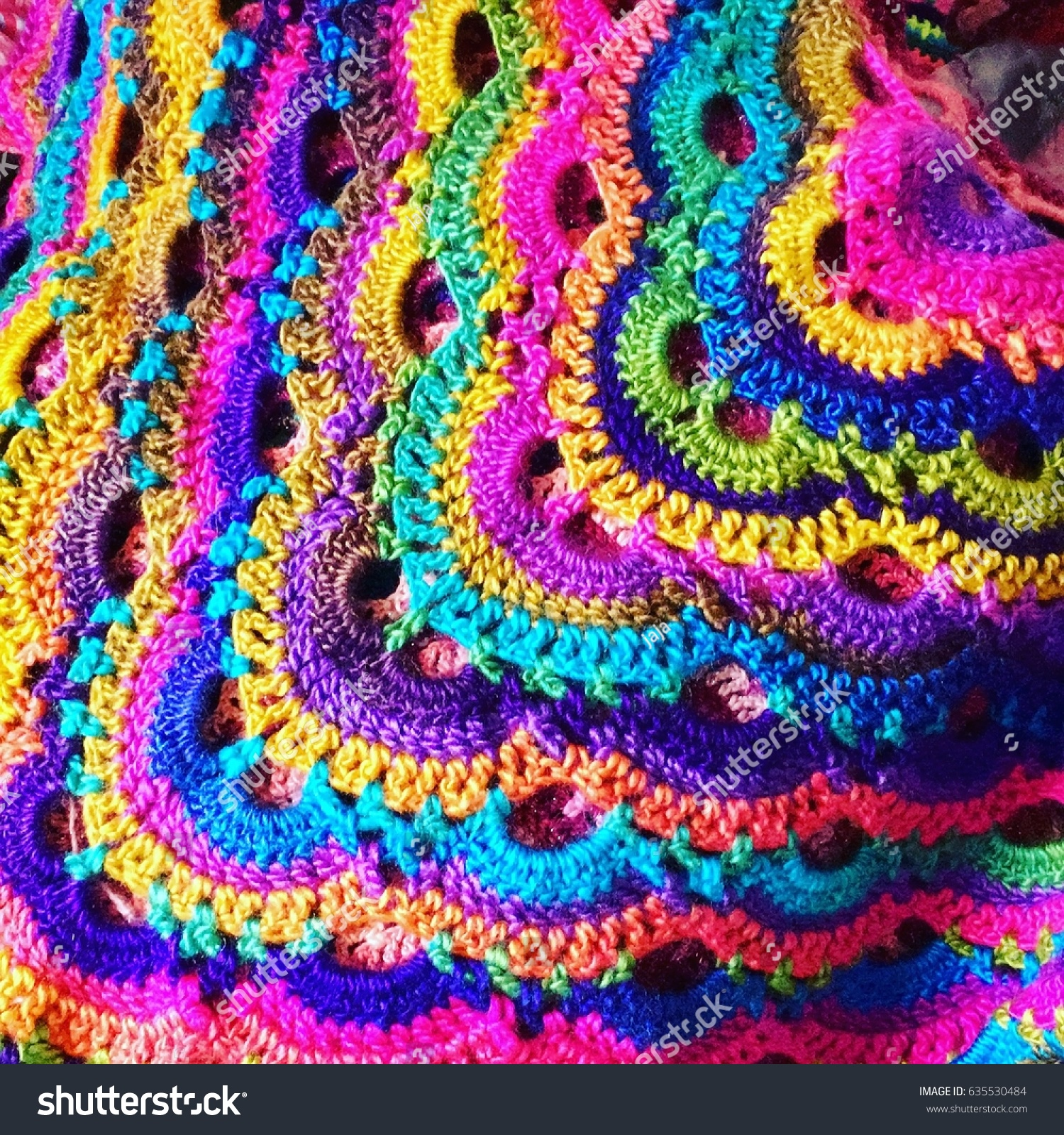 Handmade Crochet Work Virus Shawl Stock Photo Edit Now 635530484