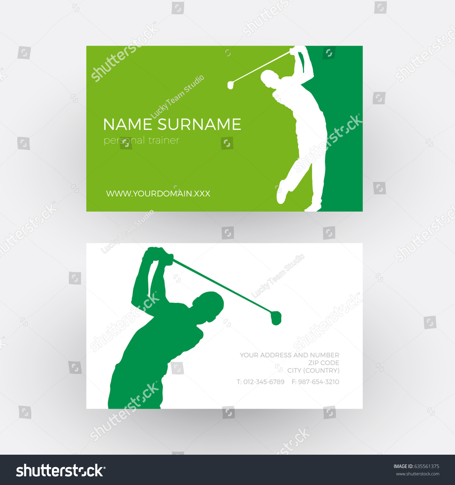 Vector Abstract Golf Club Competition Tournament Stock Vector ...