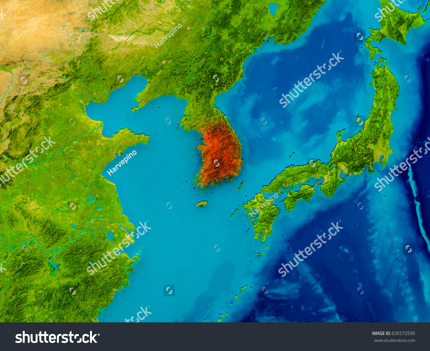 South korea highlighted red on physical stock illustration 635572595 south korea highlighted red on physical stock illustration 635572595 shutterstock gumiabroncs Choice Image