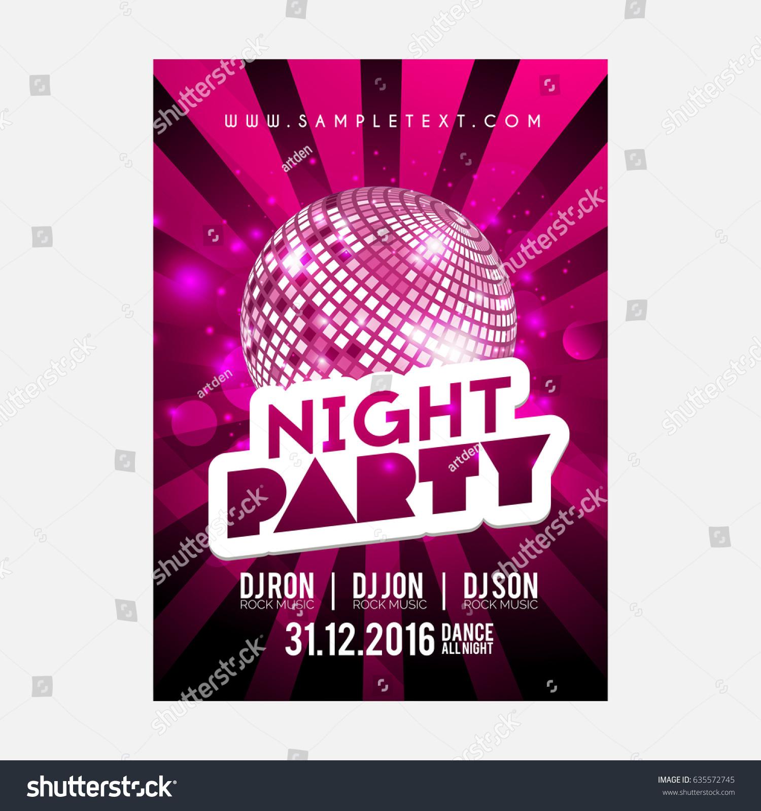 creative abstract flyer party nice creative stock vector royalty