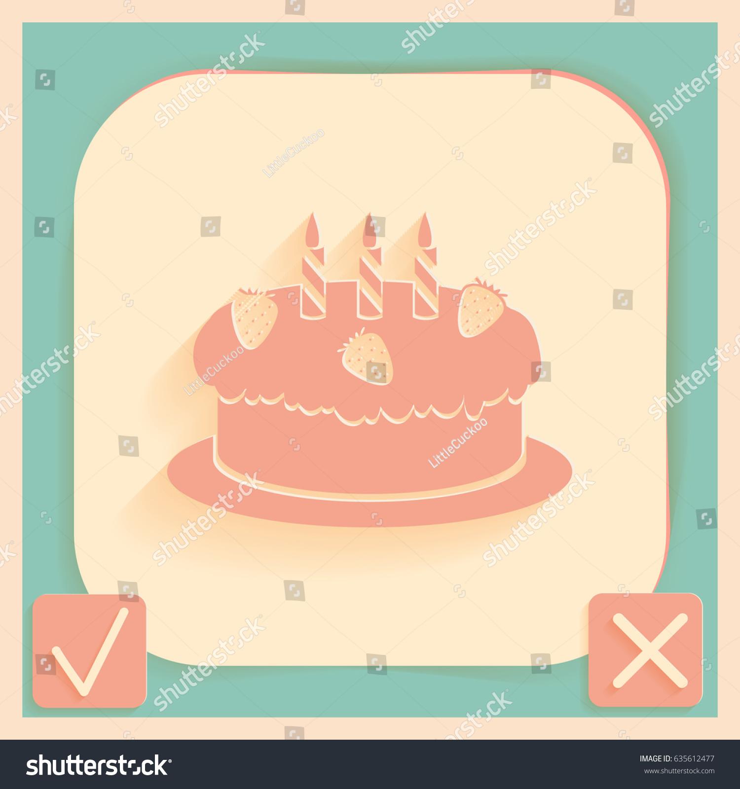Birthday cake icon symbol cake celebrating stock vector 635612477 birthday cake icon symbol of cake celebrating the birthday of the loaf buycottarizona