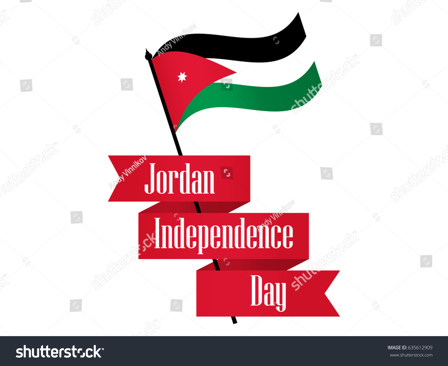 Jordan independence day ribbon jordan flag stock vector 635612909 jordan independence day ribbon and jordan flag celebration banner vector illustration biocorpaavc Gallery
