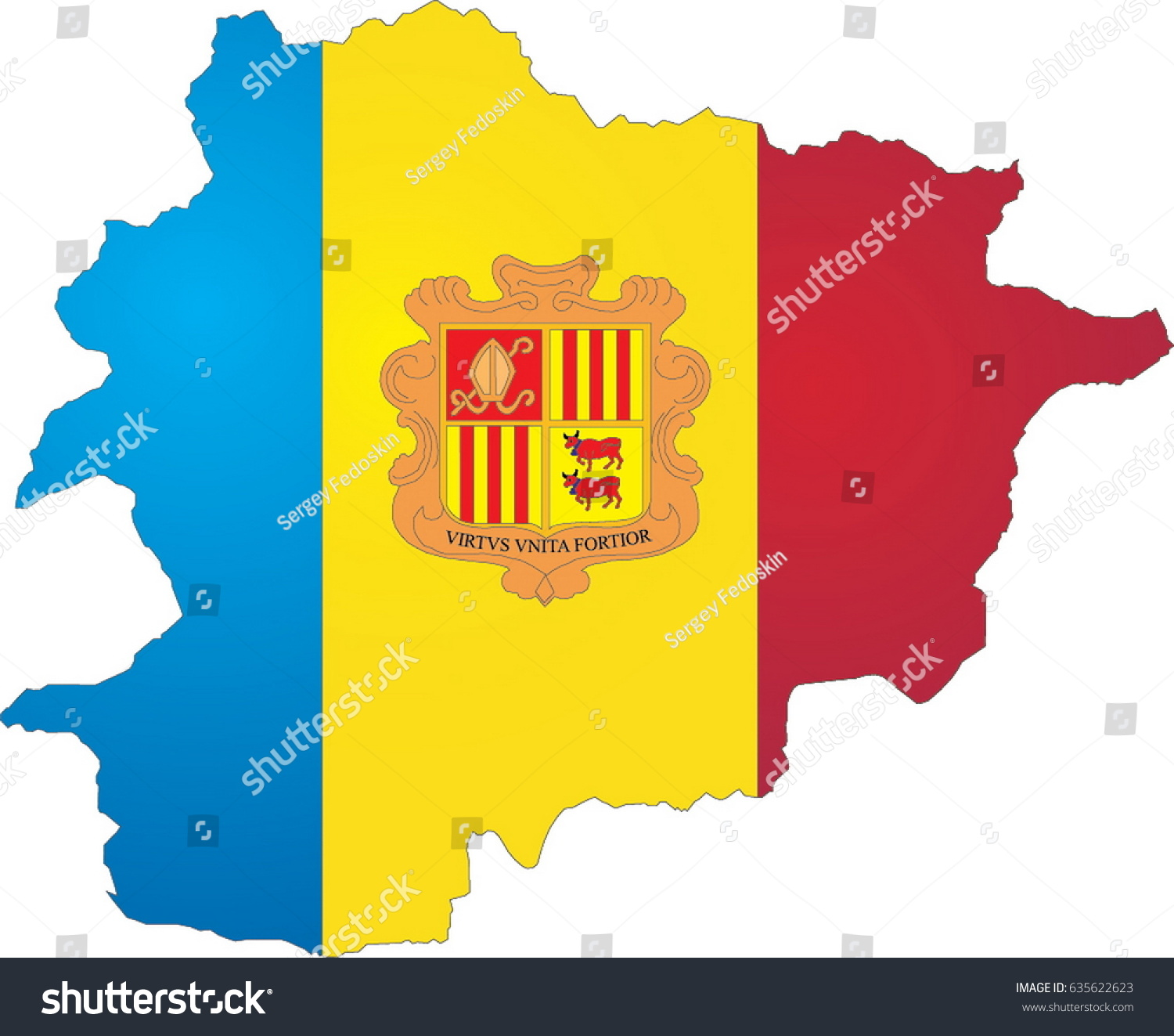 Andorra Map Stock Photo Photo Vector Illustration 635622623